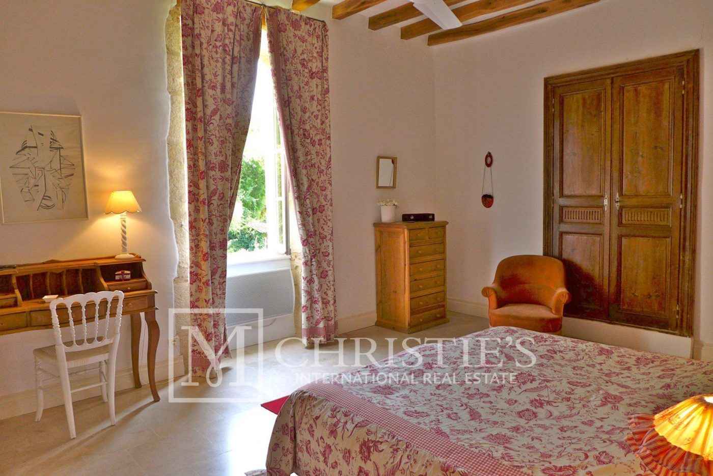 Bedroom, Tile - Domaine with Organic Vineyard In AOC Cahors