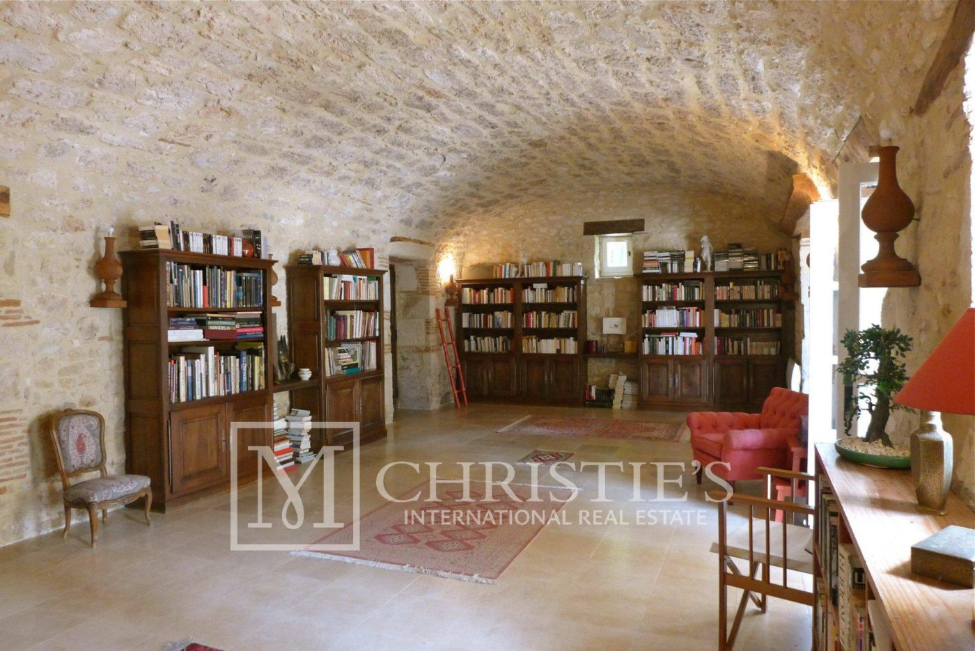 Living-room, Tile, Fireplace - Domaine with Organic Vineyard In AOC Cahors