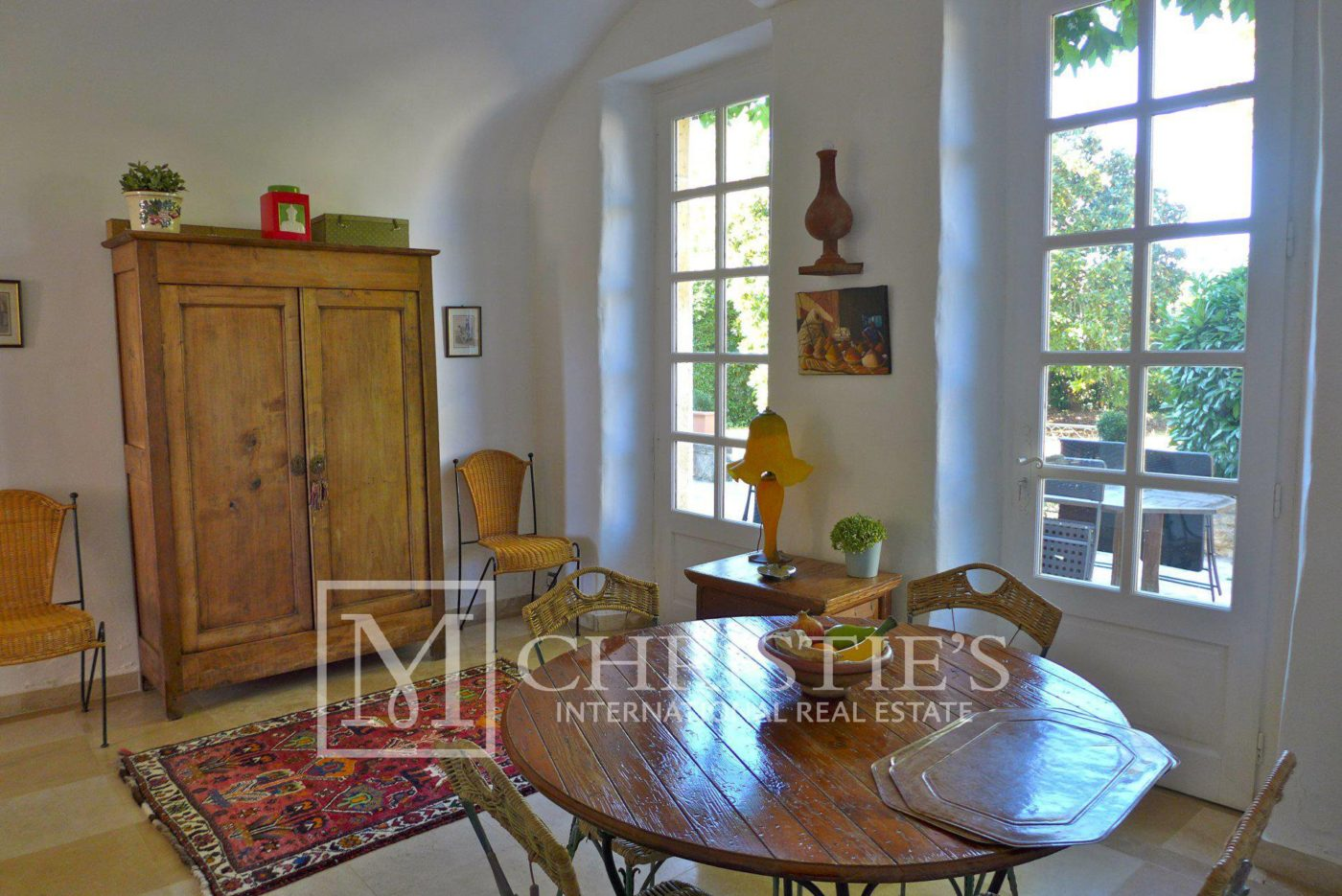 Dining room, Tile - Domaine with Organic Vineyard In AOC Cahors