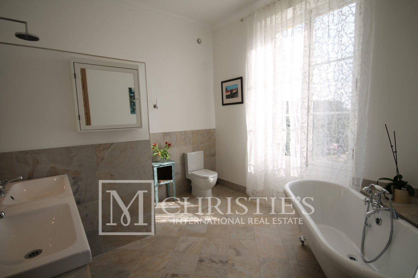 Bathroom, Tile - Country House/Chateau with Boutique Vineyard