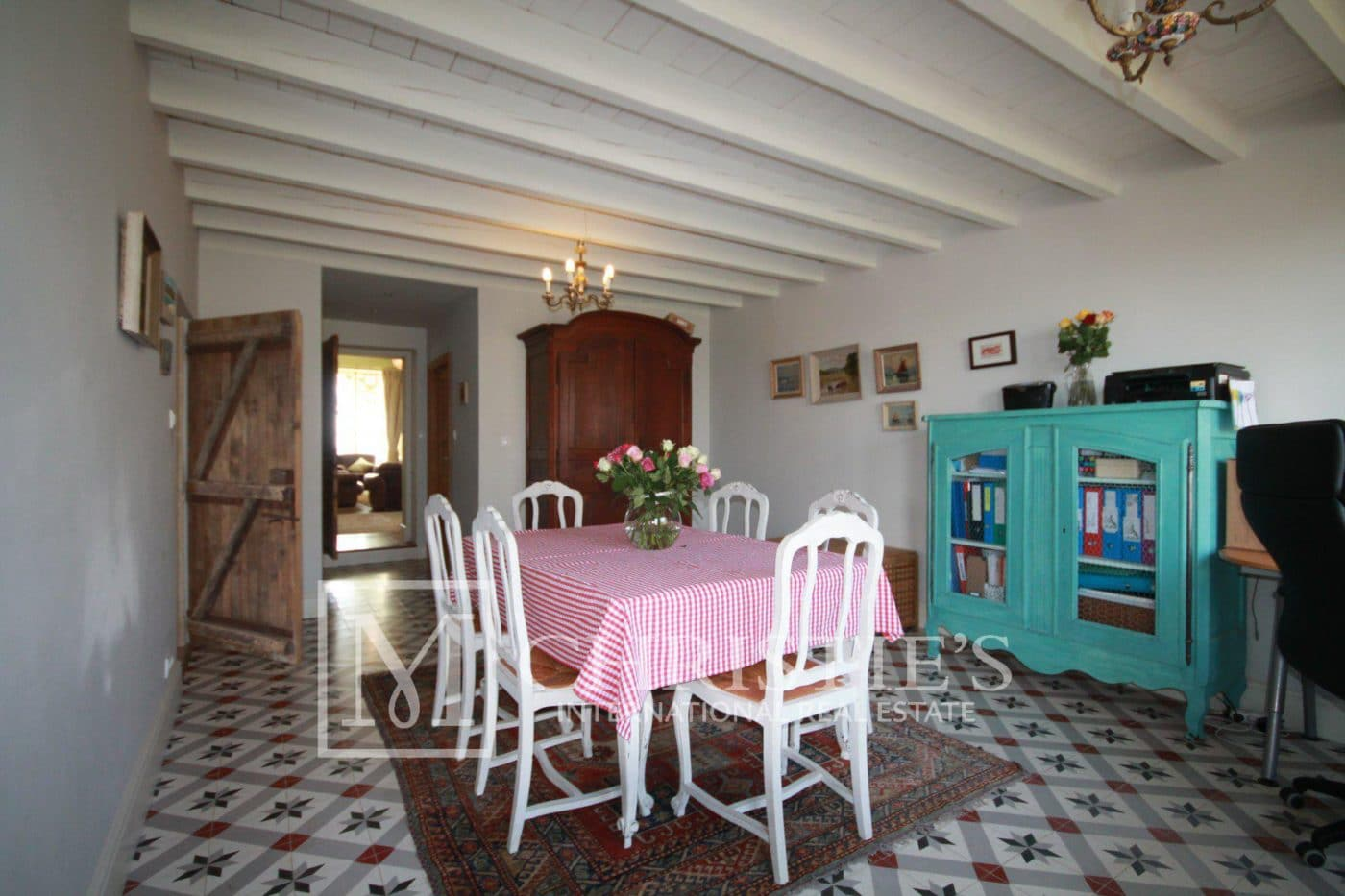 Dining room, Tile - Country House/Chateau with Boutique Vineyard