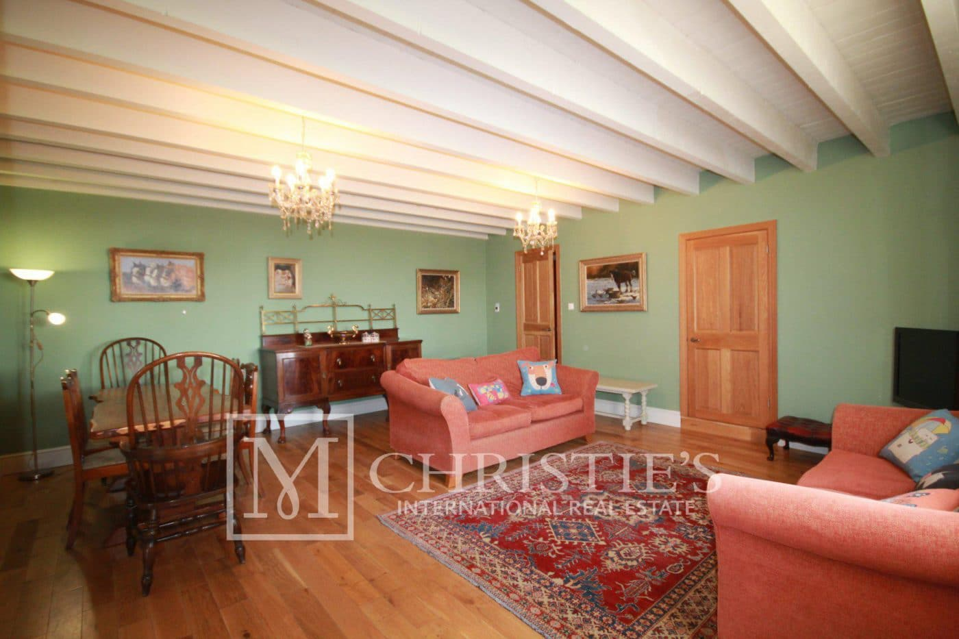 Living-room, Wood floors - Country House/Chateau with Boutique Vineyard