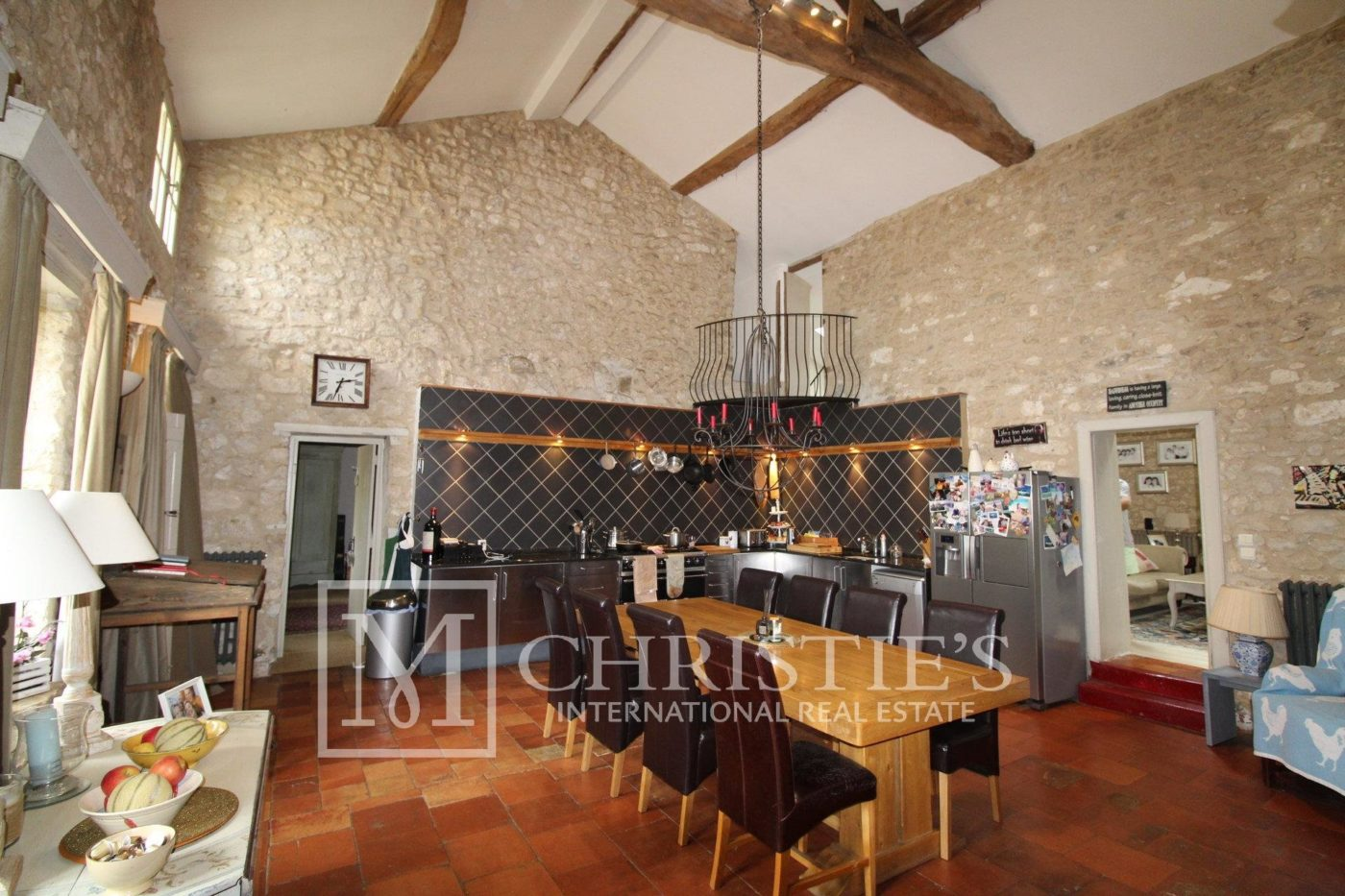 Dining room - Attractive AOC Côtes-de-Duras vineyard with residence, gîte and swimming pool